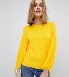Warehouse Blouson Tie Sleeve Jumper - Yellow