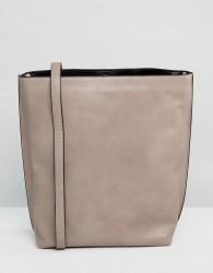 Warehouse Bonded Hobo Shopper Bag - Beige