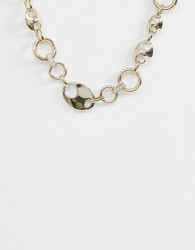 Warehouse chunky necklace in gold - Gold