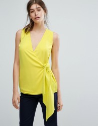 Warehouse Knot Front Top - Yellow