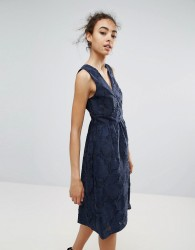 Warehouse Occasion Classic Prom Dress - Navy