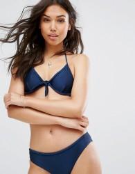 Warehouse Plait Detail Bikini Top - Navy