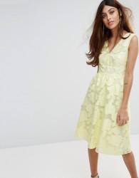 Warehouse Premium Organza Prom Dress - Yellow
