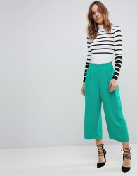 Warehouse Soft Pleat Culottes - Green