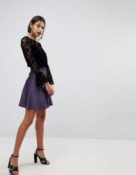 Warehouse Sparkle Mini Skirt - Purple