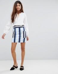 Warehouse Stripe Pelmet Skirt - Multi