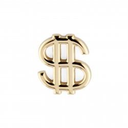 Warren Asher Reversnål i Guld med Dollartegn