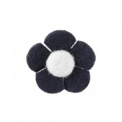 Warren Asher Reversnål med Marineblå & Hvid Blomst