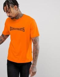 Wasted Paris London T-Shirt In Orange - White
