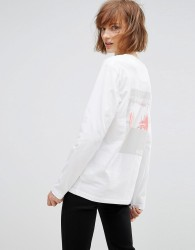 Waven Anton Unisex Long Sleeved Print T-Shirt - White