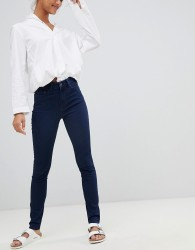 Waven Asa Mid Rise Skinny Jeans - Navy