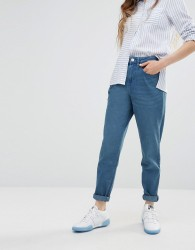 Waven Elsa Mom Jeans in Light Blue - Blue
