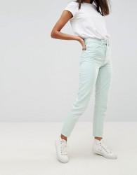Waven Elsa Pale Mint Mom Jeans - Green