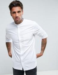 Waven Grandad Collar Shirt - White