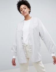 Waven Imma Unisex Belted Kimono Jacket - Grey