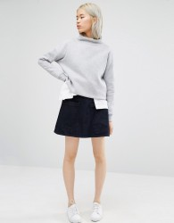 Waven Ina Skirt with Pockets - Blue