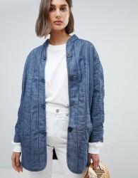 Waven Lykke Quilted Denim Jacket - Blue