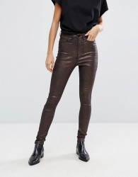 Waven Metallic Skinny Jean - Yellow