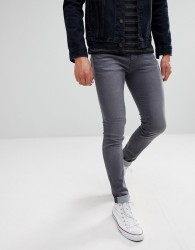 Waven Super Skinny Spray on Jeans in Charcoal Grey - Grey