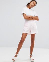 Waven Tella Pleat Front Shorts - Pink