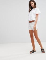 Waven Tyra Cut Off Shorts - White