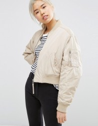 Weekday Bomber Jacket - Beige