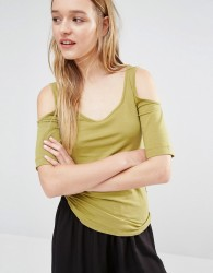 Weekday Bosy Vest Top - Green