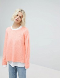 Weekday Boxy Knit with Raw Edge - Pink