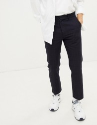 Weekday checked suit trouser - Navy