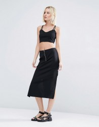 Weekday Co-ord Skirt With Zip - Black