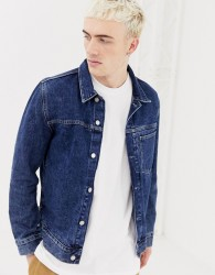Weekday core denim jacket in storm blue - Blue
