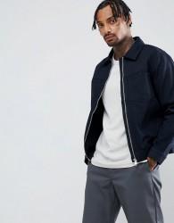 Weekday core zip jacket in navy - Blue