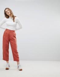 Weekday Crop Tapered Trouser - Orange