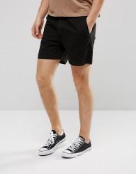 Weekday Denim Shorts Overdye Black - Black