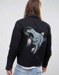 Weekday Embroidered Ypsilon Jacket - Black