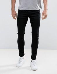 Weekday Form Super Skinny Jeans Black Wash - Black
