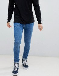 Weekday form super skinny jeans bleeker mid - Blue