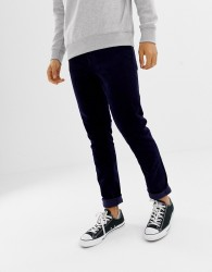 Weekday friday skinny cord trousers dark blue - Blue