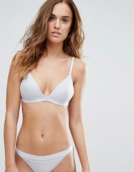 Weekday Gray Ribbed Bikini Top - Grey