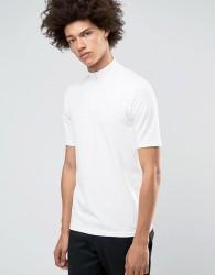 Weekday Half Tube Zip T-Shirt White - White