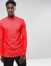 Weekday Jake Rib Long Sleeve T-Shirt - Red