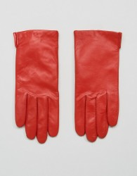 Weekday Leather Gloves - Red