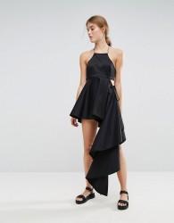 Weekday Press Collection Asymmetric Dress - Black