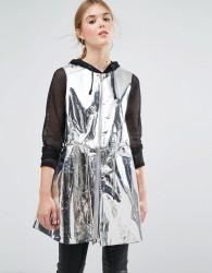 Weekday Press Collection Solar Metallic Foil Sleeveless Jacket - Silver