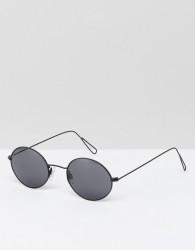 Weekday Retro Round Sunglasses - Silver