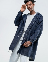 Weekday Rose Denim Parka - Blue
