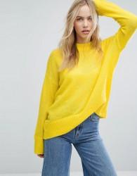 Weekday Soft Knit Jumper - Yellow