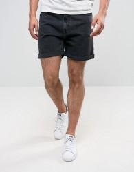 Weekday Vacant Denim Shorts Glory Black - Black