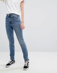 Weekday Way High Waist Slim Leg Jeans - Blue