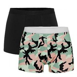 WESC 2-pak Stan Camo Boxer Brief - Black pattern-2 - Large * Kampagne *